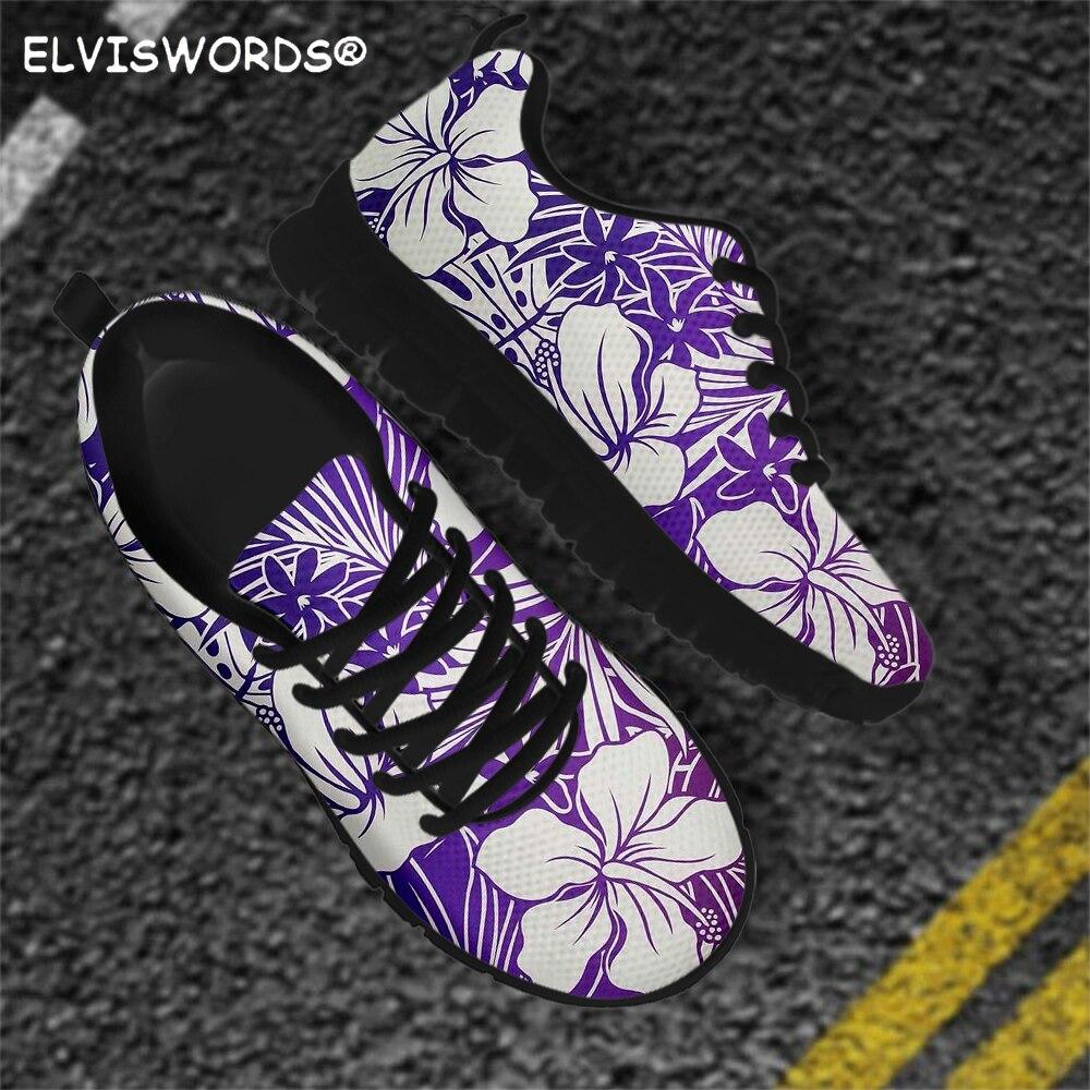 ELVISWORDS, Zapatos Planos estampados con hibisco Tropical, zapatillas informales de verano con...