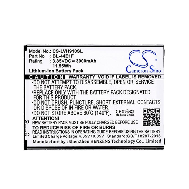 CameronSino für LG F800 F800K F800L F800S H910 H915 H918 H990 H990ds H990n Stylo 3 Plus TP450 TP450N US996 V20 BL-44E1F batterie