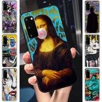 Graffiti Mona Lisa Dictionary Original Page Phone Case Cover For Samsung J4 J6 J5 J7 2016 Note 5 8 9 10 Lite Plus 20 Ultra