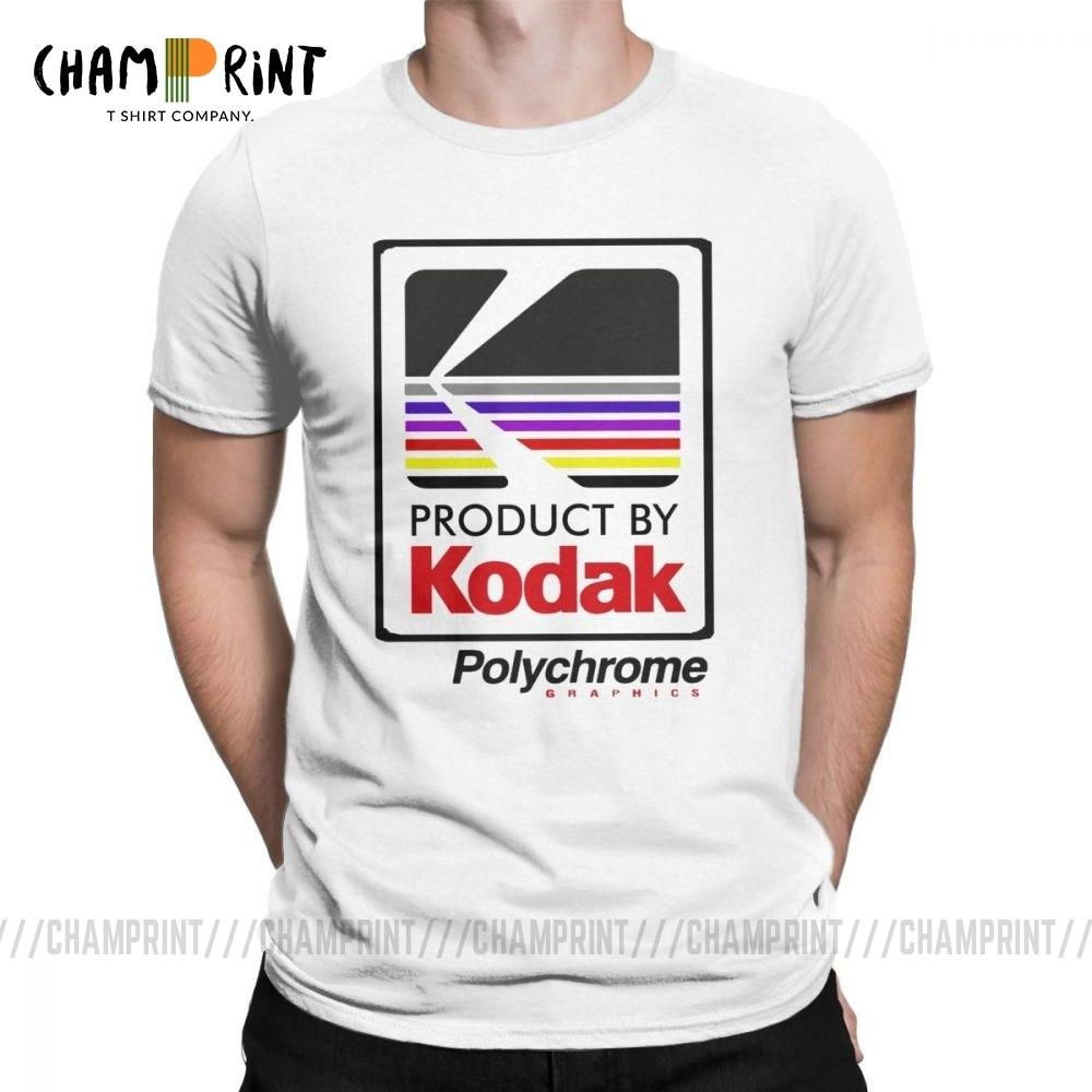 Мужская футболка с коротким рукавом Kodak, Классическая футболка из 100% хлопка