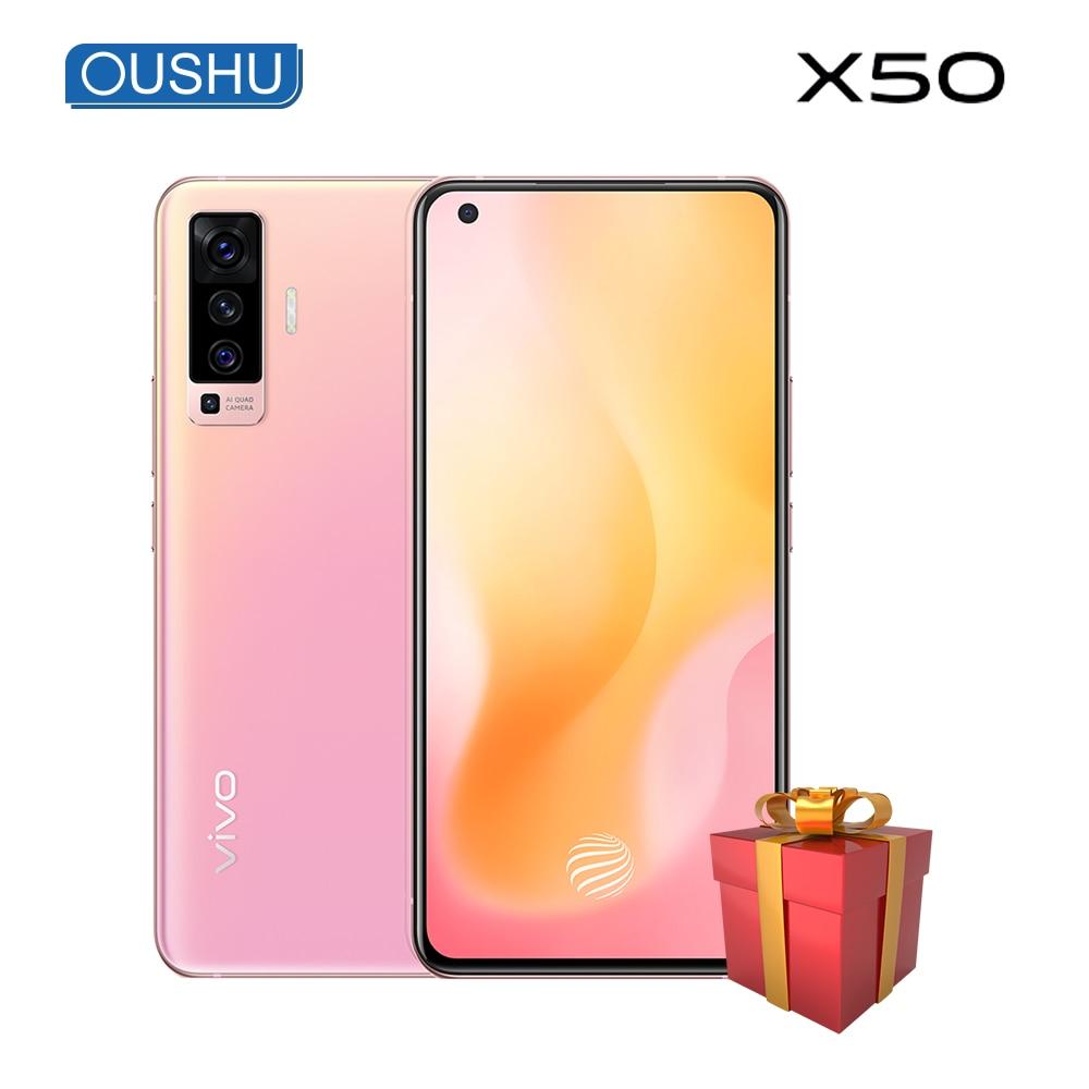 vivo X50 Dual-Mode 5G 48MP Quad Rear Camera 8GB 128GB 20x Zoom Celular NFC Snapdragon 765G 6.56'' Full Screen 4200mAh Smartphone