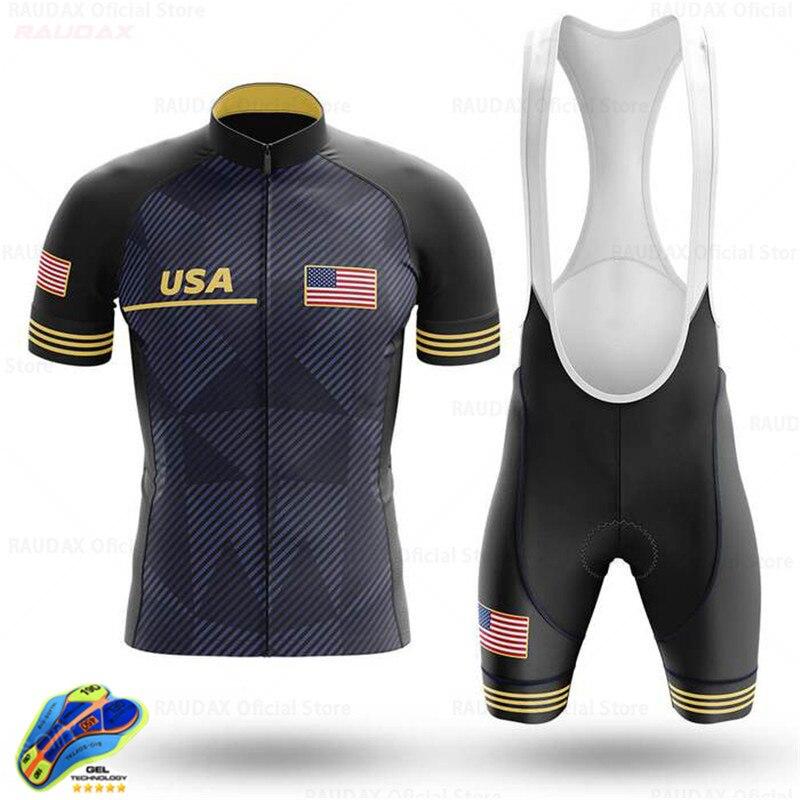 Jersey de Ciclismo personalizado de Estados Unidos, conjunto de ropa de Ciclismo...