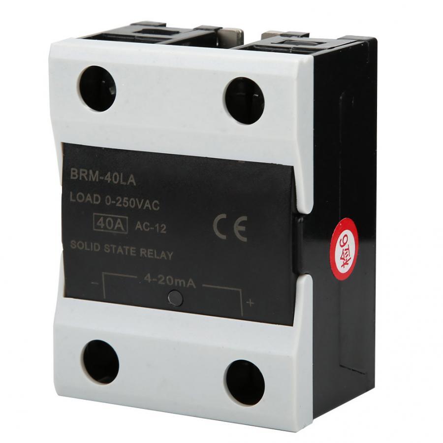 BRM-40LA relé de estado sólido 4 2020ma-ac 0 250V 40A relé ignífugo para equipos de investigación de comunicación de energía de fábrica