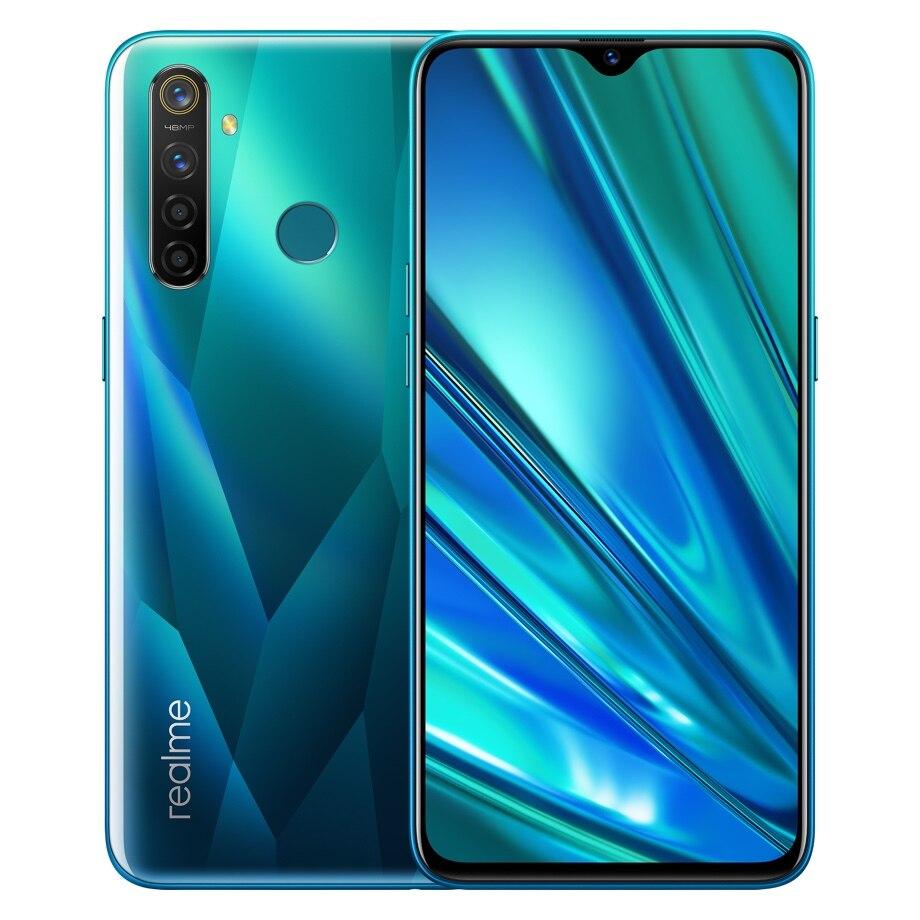 "Realme Q 6,3 ""FHD + Snapdragon 712 teléfono inteligente 48MP 4 Cámara VOOC 3,0 cargador rápido 4 gramos 64GROM 4035mAh teléfono móvil"
