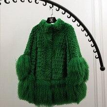 IFUR new natural Rex rabbit fur long vest real Rex rabbit fur gilet winter high quality women real Rex rabbit fur coat B020