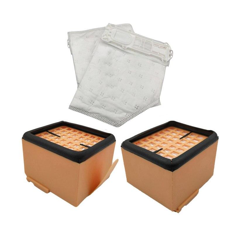2 * filtre HEPA et 2 * remplacements de sac à poussière pour Vorwerk Kobold VK135 VK136 vk369 KOBOLD135 KOBOLD136 filtre de nettoyage pièces de rechange