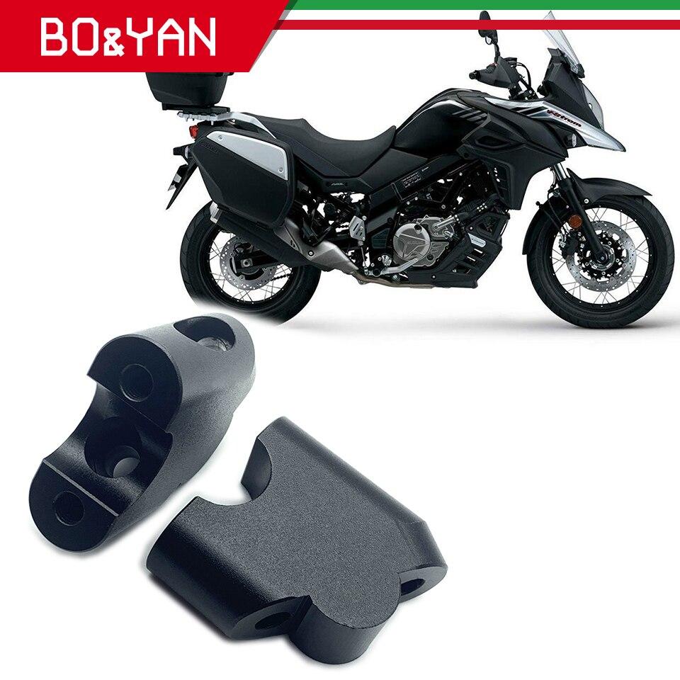Para suzuki dl250 V-STORM dl 250 dl1000 dl650xt 2017 2018 motocicleta guiador riser montar braçadeira guiador bloco de aumento