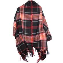 Shawl Cashmere Plaid Brushed Winter Autumn Scarf Check women Wrap Long Pashmina Soft Warm Blanket La