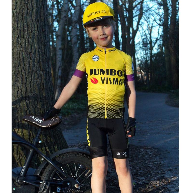 Jumbo Visma transpirable bicicleta traje de Jersey 2020 primavera y otoño Bebé Ropa de Ciclismo bicicleta de bicicleta Camiseta de manga corta