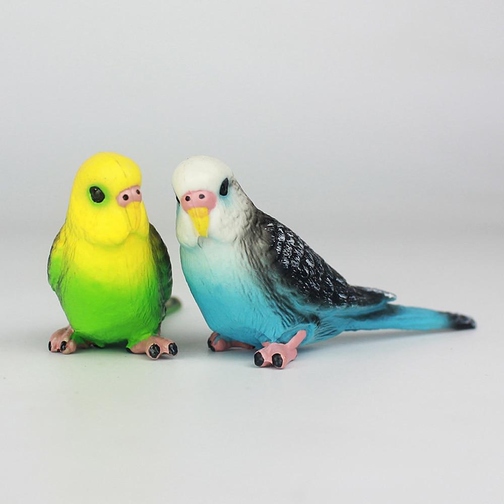 Creative Simulation Parrot Parakeet Miniature Landscape Ornament Animal Model Lawn Figurine Artificial Bird Photography Props