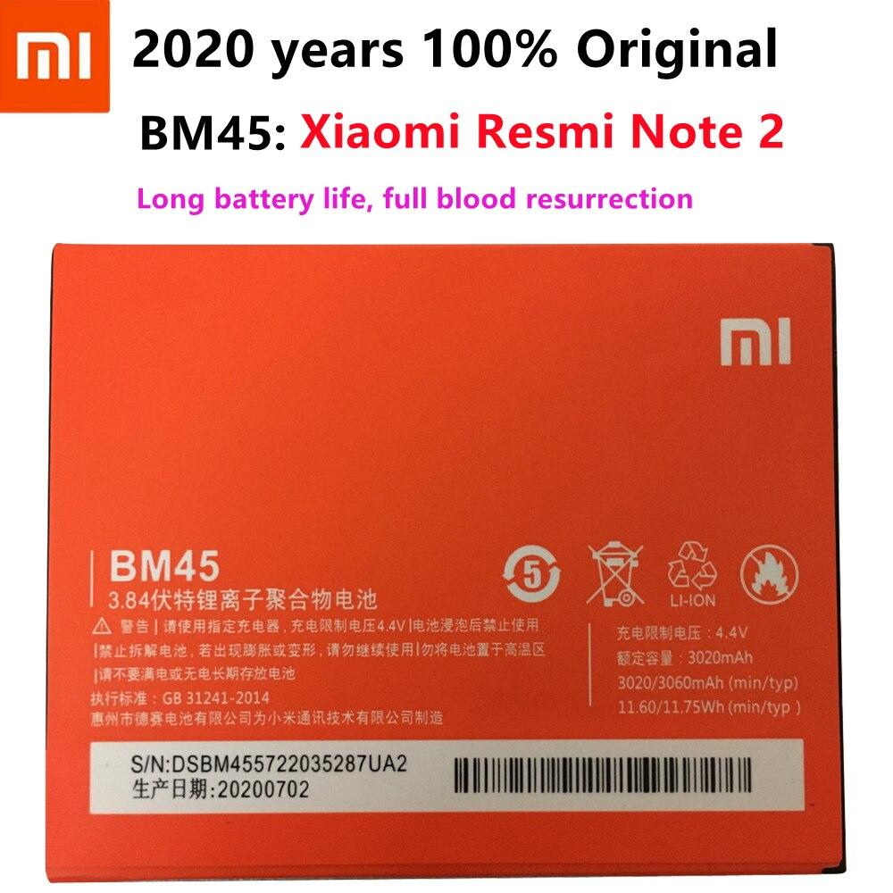 1pcs 100% Original High Quality BM45 3020mAh Battery For Redmi Note2 Xiaomi Redmi Note 2 mobile phone недорого