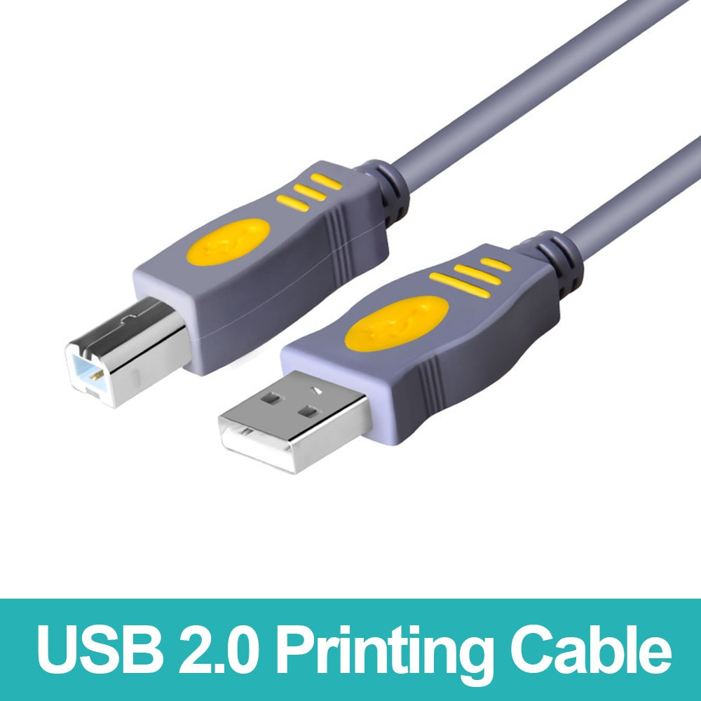 USB 2.0 Print Cable Type A To B Printer Cable For Canon Epson HP ZJiang DAC Label Printer DAC USB Printer Male Male Scanner Cord