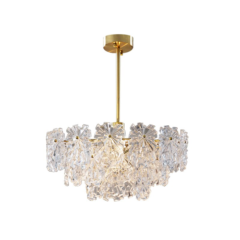 LED ما بعد الحداثة الأبيض ندفة الثلج مصمم أضواء الثريا بريق تعليق الإنارة Lampen لغرفة الطعام