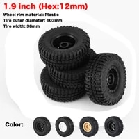 1 9 inch 103mm rocks tyres wheel tires 110 scale tires with wheel rim for 110 d90 scx10 trx4 scx10 rc rock crawler parts