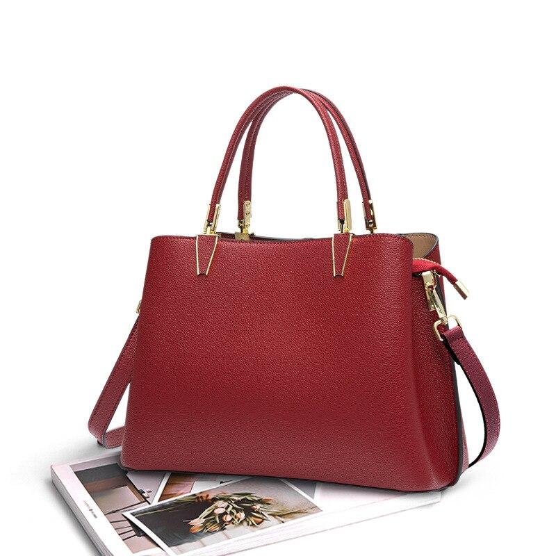 الفاخرة تصميم المرأة حقيبة أعمال طبقة الرأس جلد كبير حمل الحقائب للنساء حقيبة كتف مفردة سيدة الكلاسيكية حقيبة يد