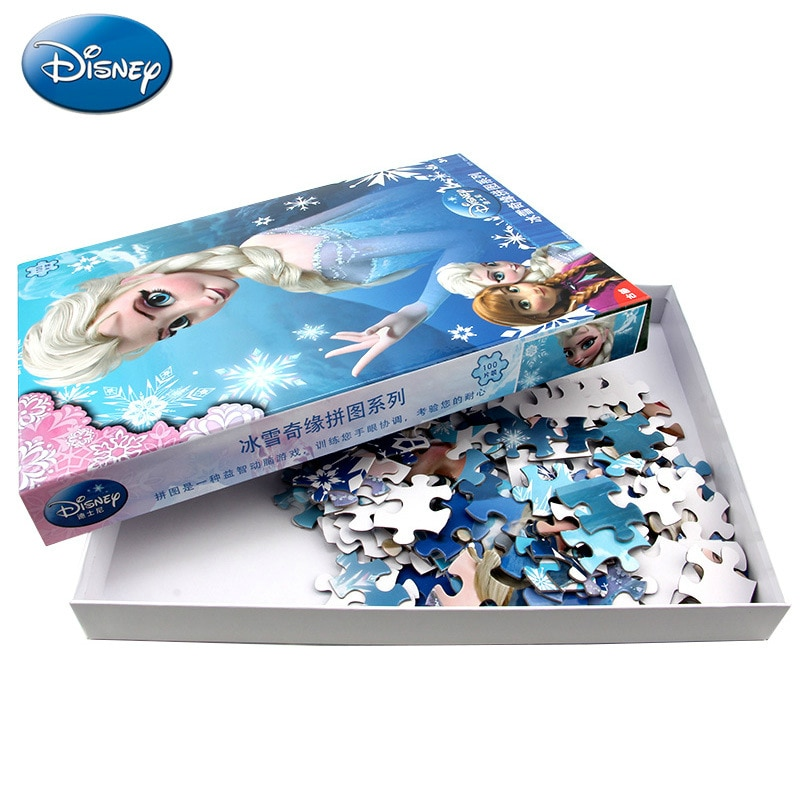 Disney children's puzzle Princess Essa from Frozen 100 pieces Toys For Girls 3-4-6-7 years old