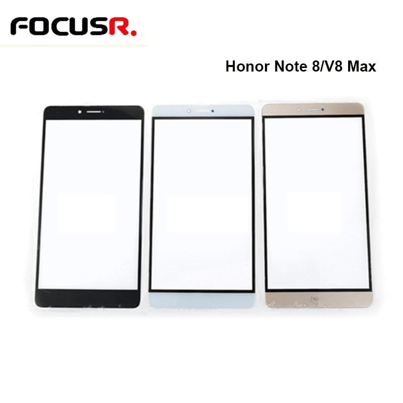FOCUSR LCD pantalla táctil cubierta de lente de vidrio exterior Panel de vidrio para Huawei Honor Note 8 V8 MaxFront piezas de repuesto exterior