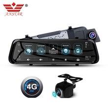 """ANSTAR wideorejestrator samochodowy 4G Android lustro kamera na deskę rozdzielczą era 10 """"kamera na lusterko wsteczne GPS ADAS lustro rejestrator 1080P Media strumieniowe kamera na deskę rozdzielczą"""