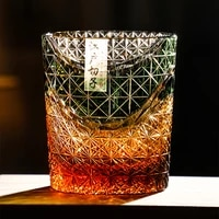multi color drinking glass 9 ounces amber red crystal whisky glass scotch glasses with gift box 210612 08