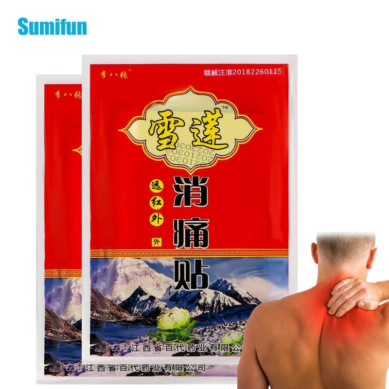 16Pcs Lumbar Spine Arthritis Pain Plaster Joint Neck Knee Back Muscle Ache Pain Relief Plaster Herbal Snow Lotus Extract Plaste