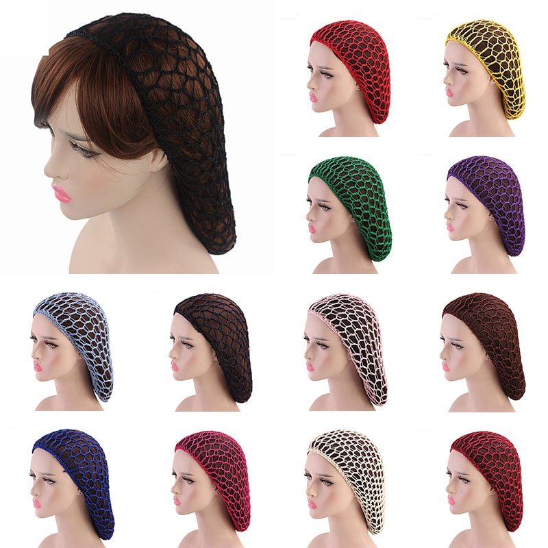 1PC Weaving Wig Cap & Hairnets Hairnets Best Quality Mesh Long Hair Net Weaving Black Wig Making Caps Hair Net Accessories
