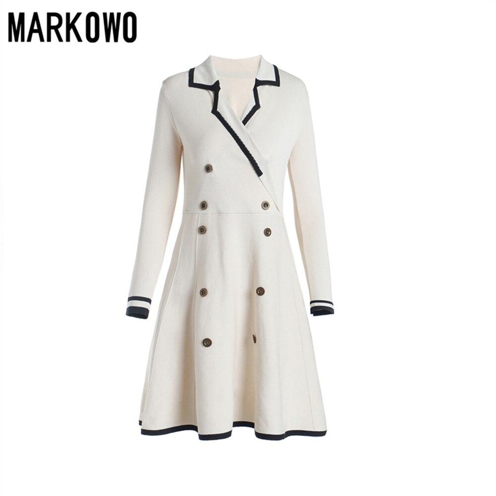 MARKOWO Desinger marca 2020 otoño nuevo temperamento femenino moda vestido reducción de edad estilo extranjero falda de kimono primera falda de amor