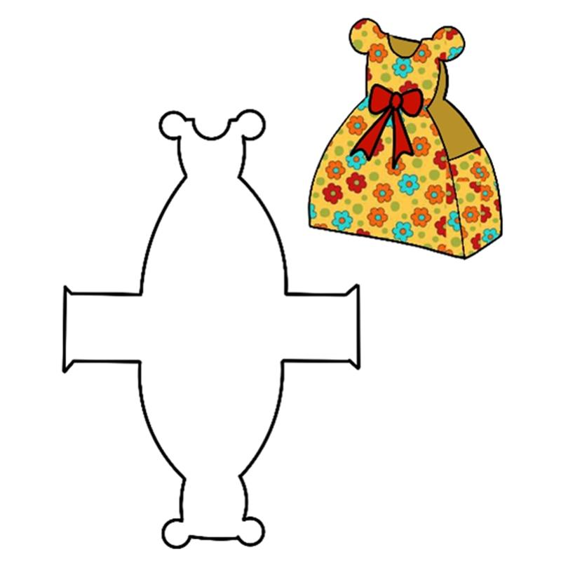 Kokorosa corte de metal dados corte vestido caixa de presente bolsa casamento coroa tratar saco scrapbook papel ofício álbum cartão perfurador cortador