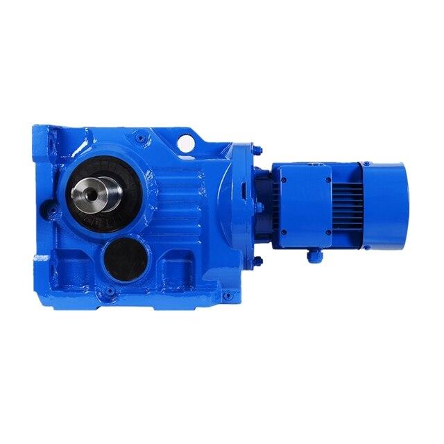 0.12-200kw K سلسلة شطبة والعتاد المخفض K47 انتقال علبة التروس مع محرك كهربائي