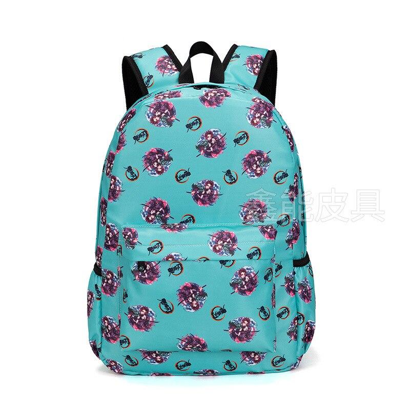 حقيبة ظهر مقاومة للماء بتصميم الرسوم المتحركة Demon Slayer ، حقيبة مدرسية بشفرة من قماش أكسفورد مع حبل شخصي ، متينة للطلاب
