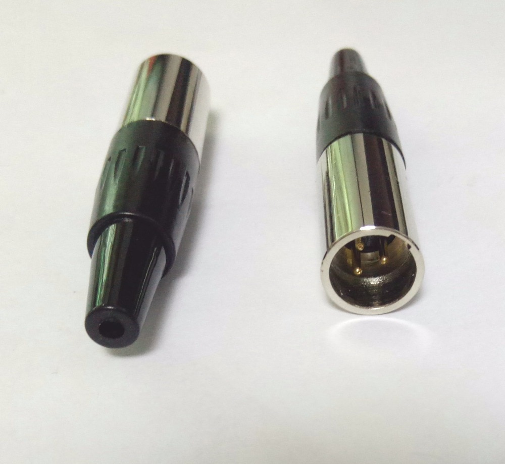 محول كابل صوت صغير XLR ، موصل ذكر 3 دبابيس ، جودة عالية ، 500 قطعة ، جديد
