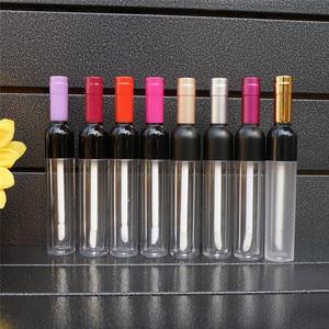 5 мл/10 Вт, 30 Вт, 50 шт пустые прозрачные Пластик блеск для губ бутылка с Цветной Кепки, вино, Форма Творческий Портативный контейнеры бальзам дл...