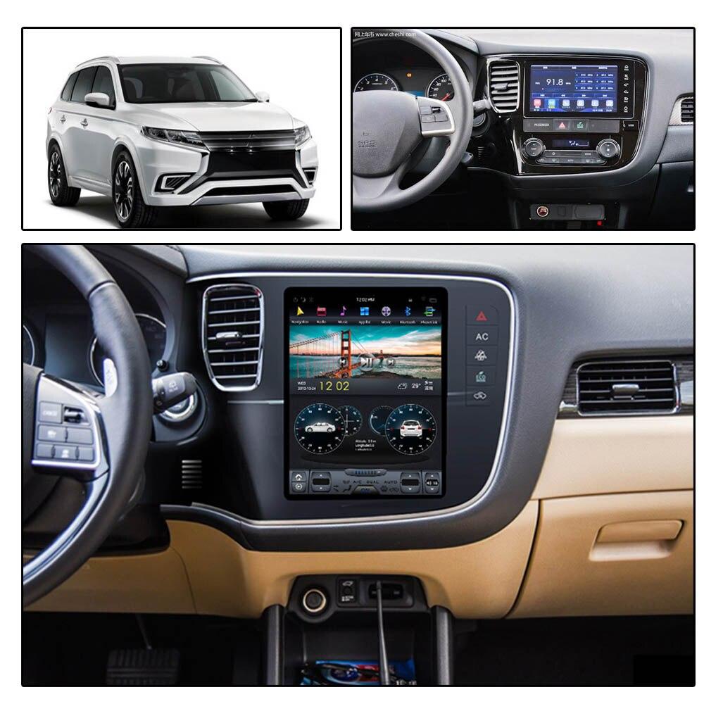 Android 9 Tesla Stile Auto Radio CD Verticale Dello Schermo per Mitsubishi Outlander 2014-2018 di Navigazione GPS Multimedia Player Testa unità