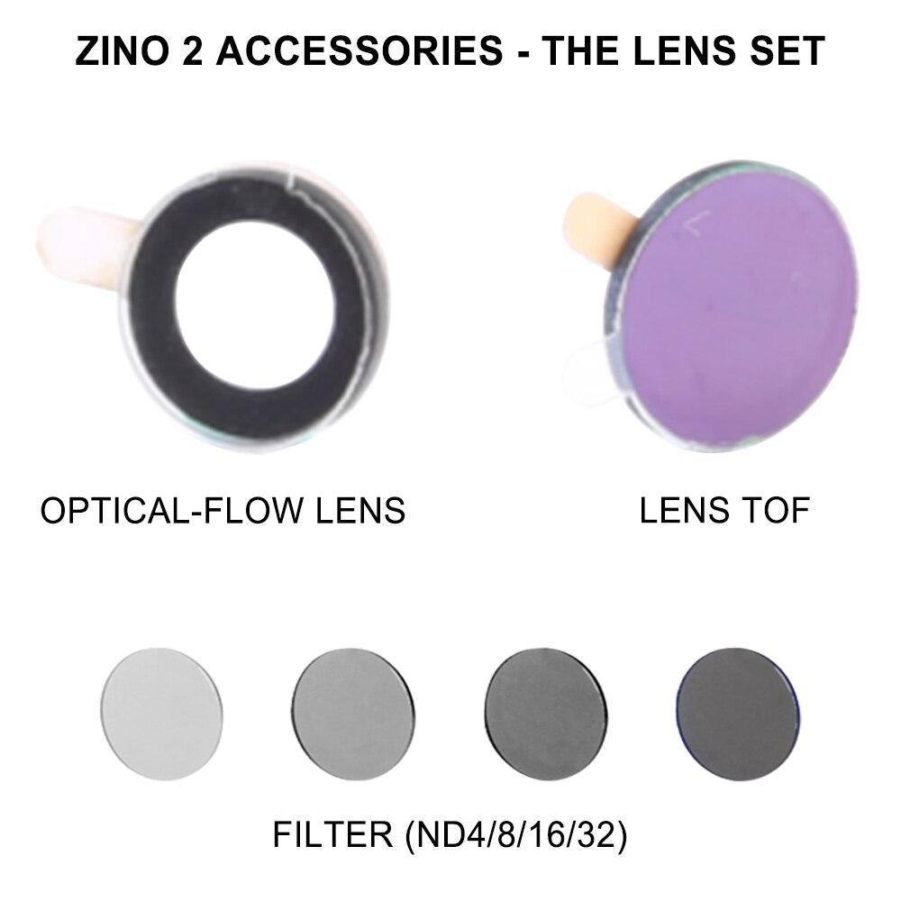 Original authentique HUBSAN ZINO 2 aéronef sans pilote (UAV) Yuntai caméra pièces de rechange filtre filtre ND (ND4/8/16/32)/optique-flux lentille/lentille TOF