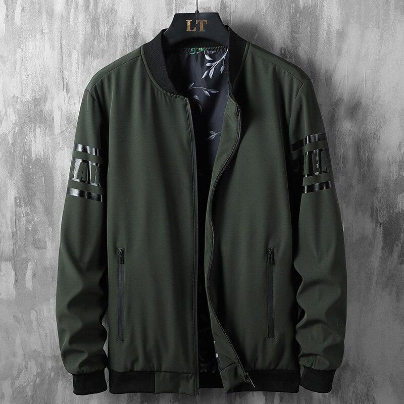À prova de vento jaquetas de golfe dos homens 2020 nova gola beisebol esporte casaco grande tamanho blusão solto roupas esportivas 7xl 8xl boliche golfe casaco