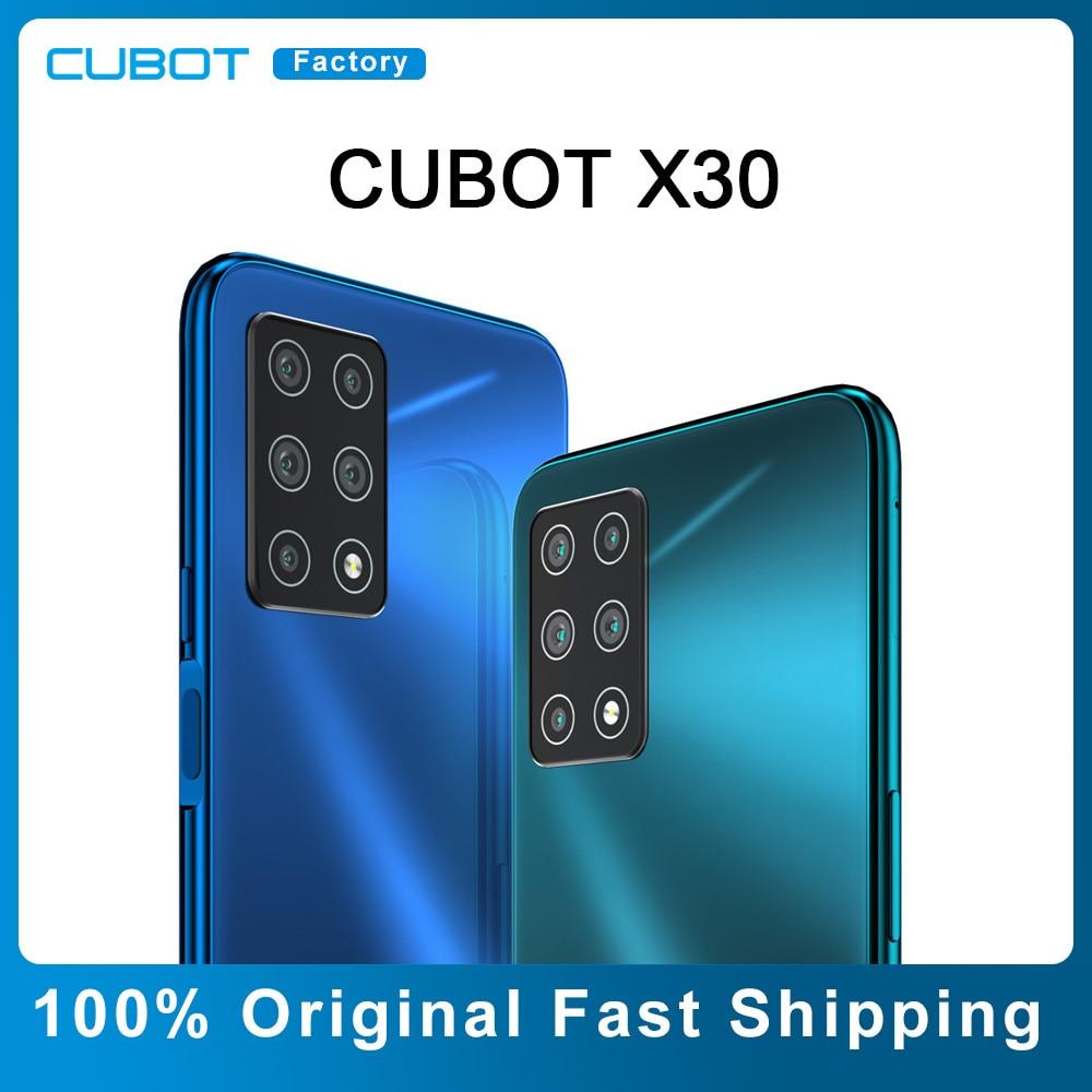 هاتف CUBOT X30 NFC الذكي بشريط عالمي 4g هاتف محمول 128GB 256GB خمسة كاميرا خلفية AI 6.4