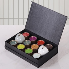 Ten kinds of Tea Flower Nectar Pu'er Biluochun Green Orange Tea Leaf Gift Box Small Aluminum Cans Tea