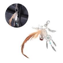 Creative Keychain Dream Catcher Feather Hand-Woven Fashion Key Holder Bohemian Style Keychain Key Ring For Handbag Purse Wallet
