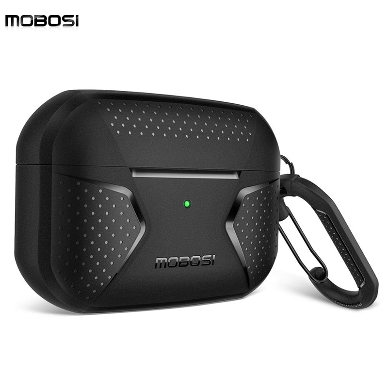 MOBOSI Protective Case For Airpods Pro Case Cover for AirPods Pro Full-Body Rugged Shock Absorbing Protective For Airpods 2 Case