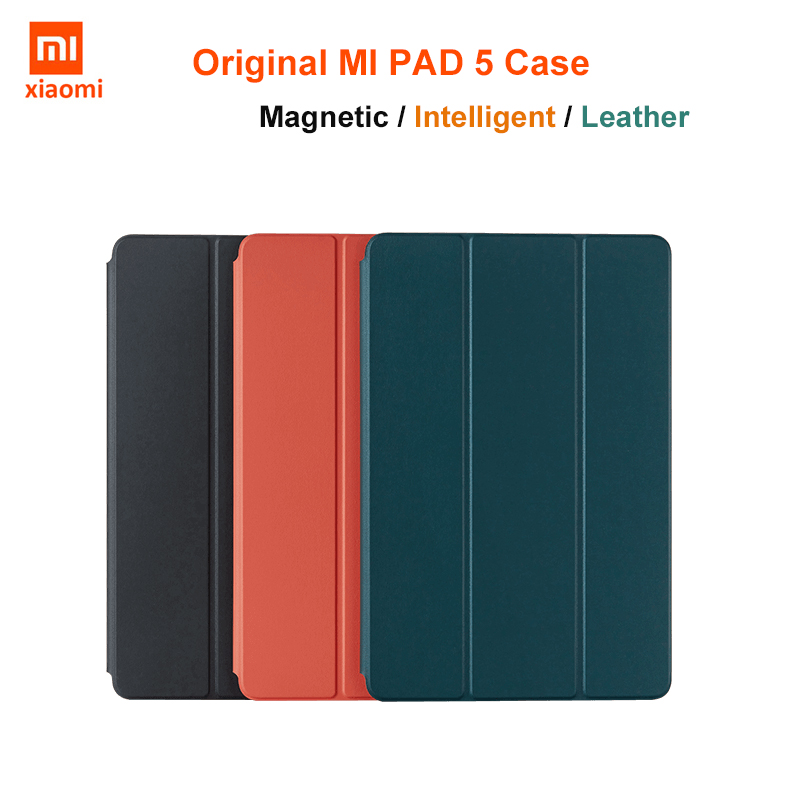 NEW Original Xiaomi MiPad 5 Pro / Pad5 Smart Case MI PAD 5 Ultra thin tablet leather flip Shell Cover Glass Magnetic Adsorption