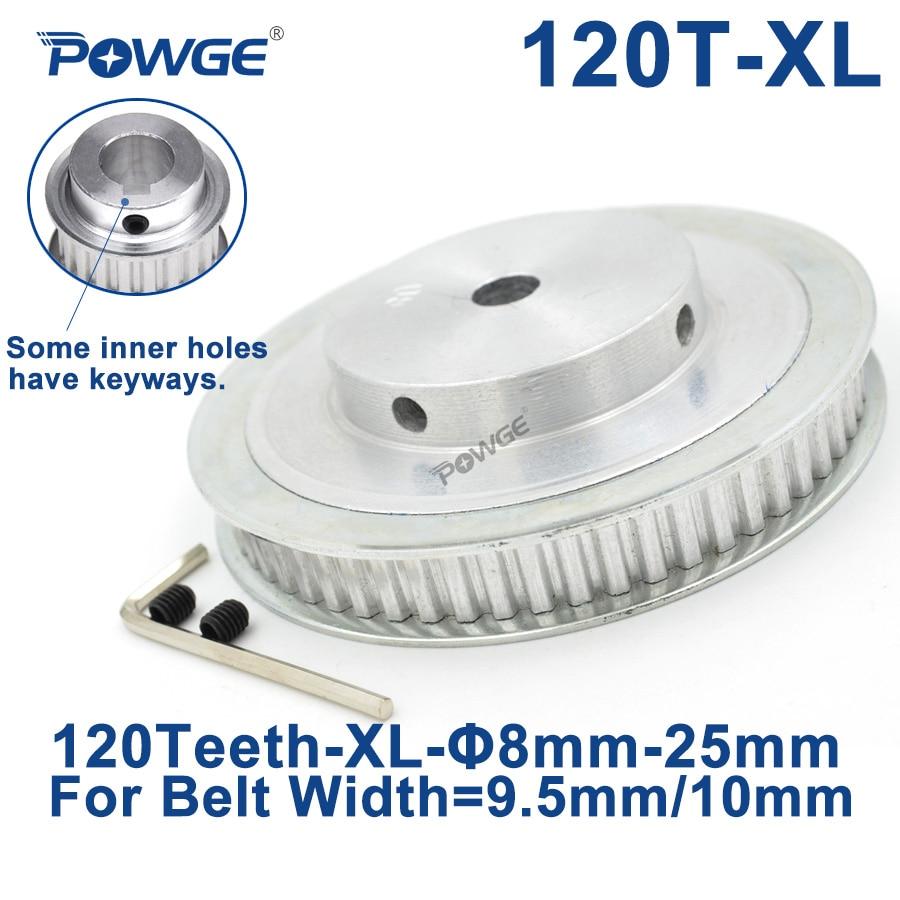POWGE trapezoidal 120 dientes XL diámetro de polea sincrónico 8mm para 10mm ancho correa dentada 120-XL-037 BF rueda dentada 120 dientes 120 T