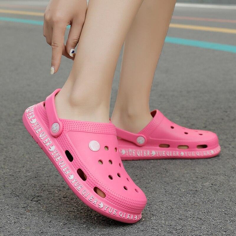 Croces sandalias de piscina de verano 2020 para mujer, zapatos de playa para exterior, zuecos de jardín antideslizantes para hombre, zapatillas de ducha de agua informales Unisex