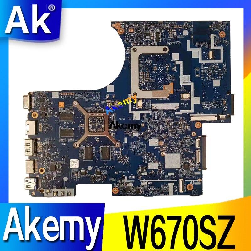 كمبيوتر محمول moterboard يصلح ل Clevo W670 W670SZ W670SJ اللوحة الأم 6-77-W670SJ00-D02 D01