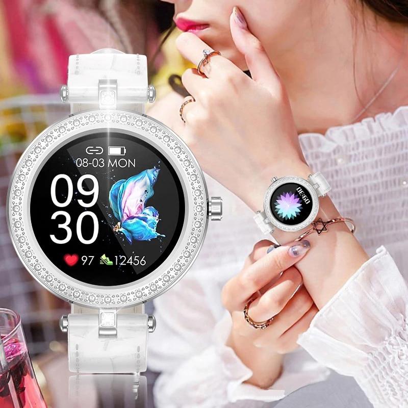 LIGE Smart Watch Women luxury Fashion Casual Waterproof Smart Watch Genuine Leather Strap Sport Ladies Elegant Wrist Watch Girl