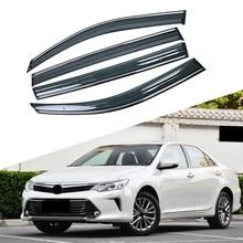 For TOYOTA CAMRY 7TH Generation 2011-2017 Car Window Sun Rain Shade Visors Shield Shelter Protector Cover Trim Frame Sticker