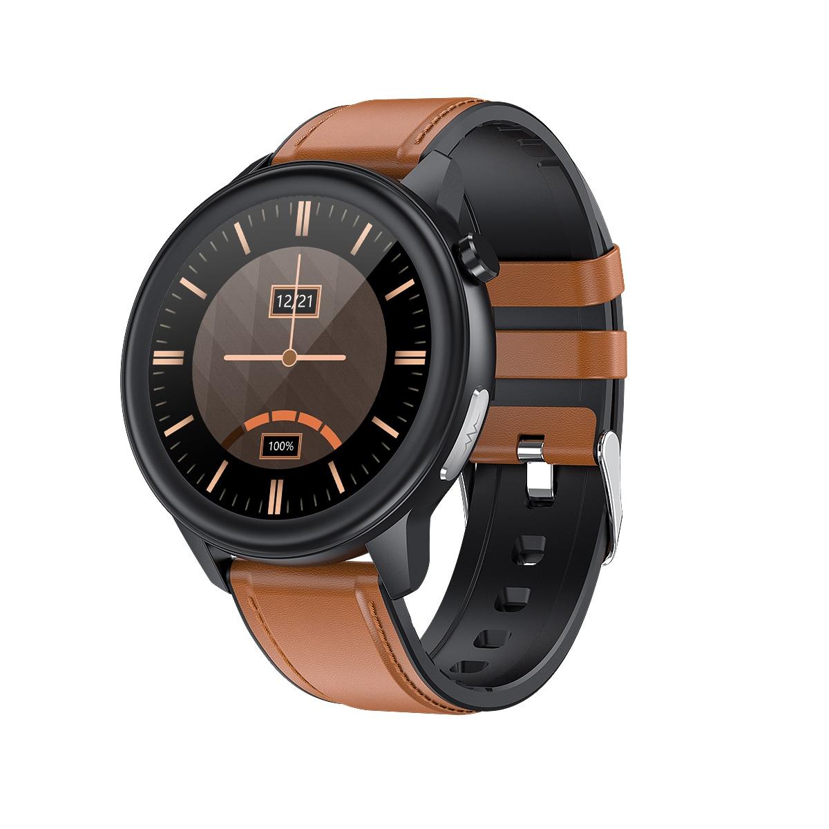 Fashion E80 Men's And Women's Smart Watch Sports Watch IP68 Waterproof 1.3-inch HD Touch Screen Supp