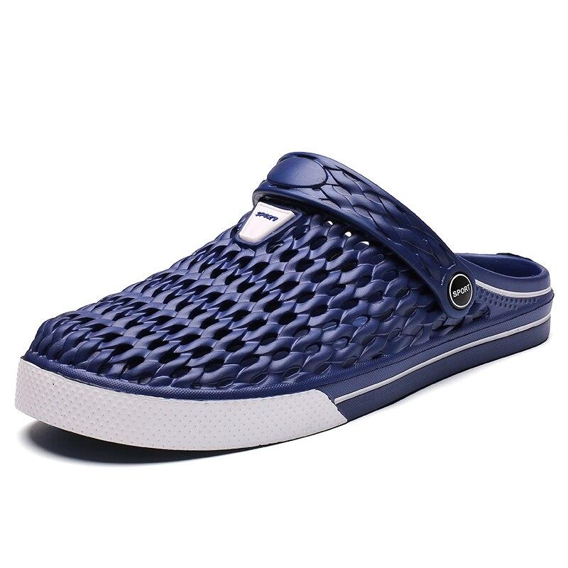 Wholesale Summer Men Sandals Low Price Crocks Hole Shoes EVA Durable Fashion Garden Shoes Black Sandals 45 Large Size