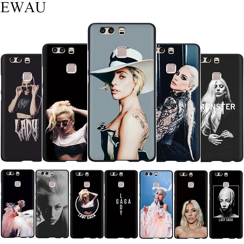 Силиконовый чехол для телефона EWAU Lady Gaga для Huawei P8 P9 P10 P20 P30 Lite Mini Pro P Smart Z Plus