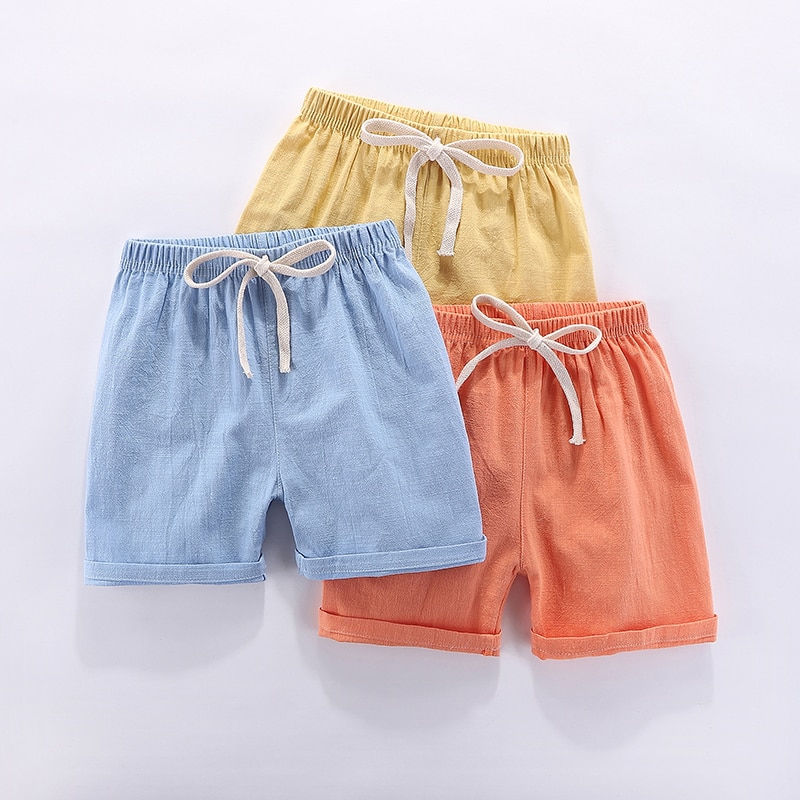Boys Shorts Kids Shorts Candy Color Girls Children Summer Beach Loose Shorts Casual Pants Cotton & L
