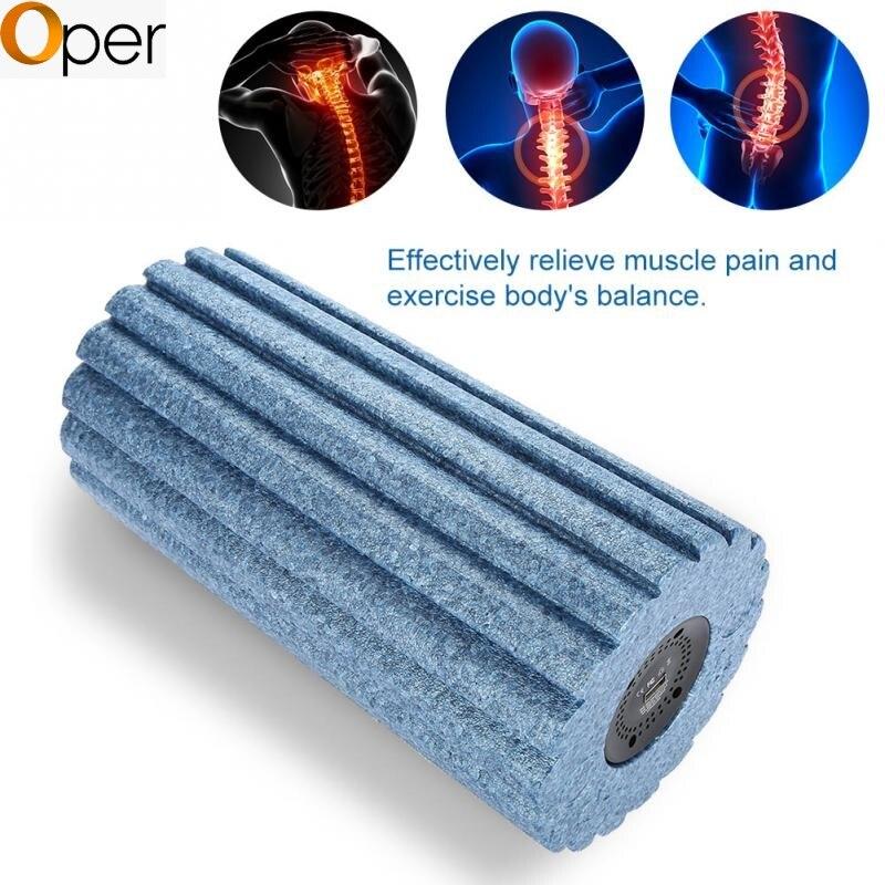5 Speed High Intensity Vibrating Foam Roller Yoga Massage Column Vibration Gear Type Blue