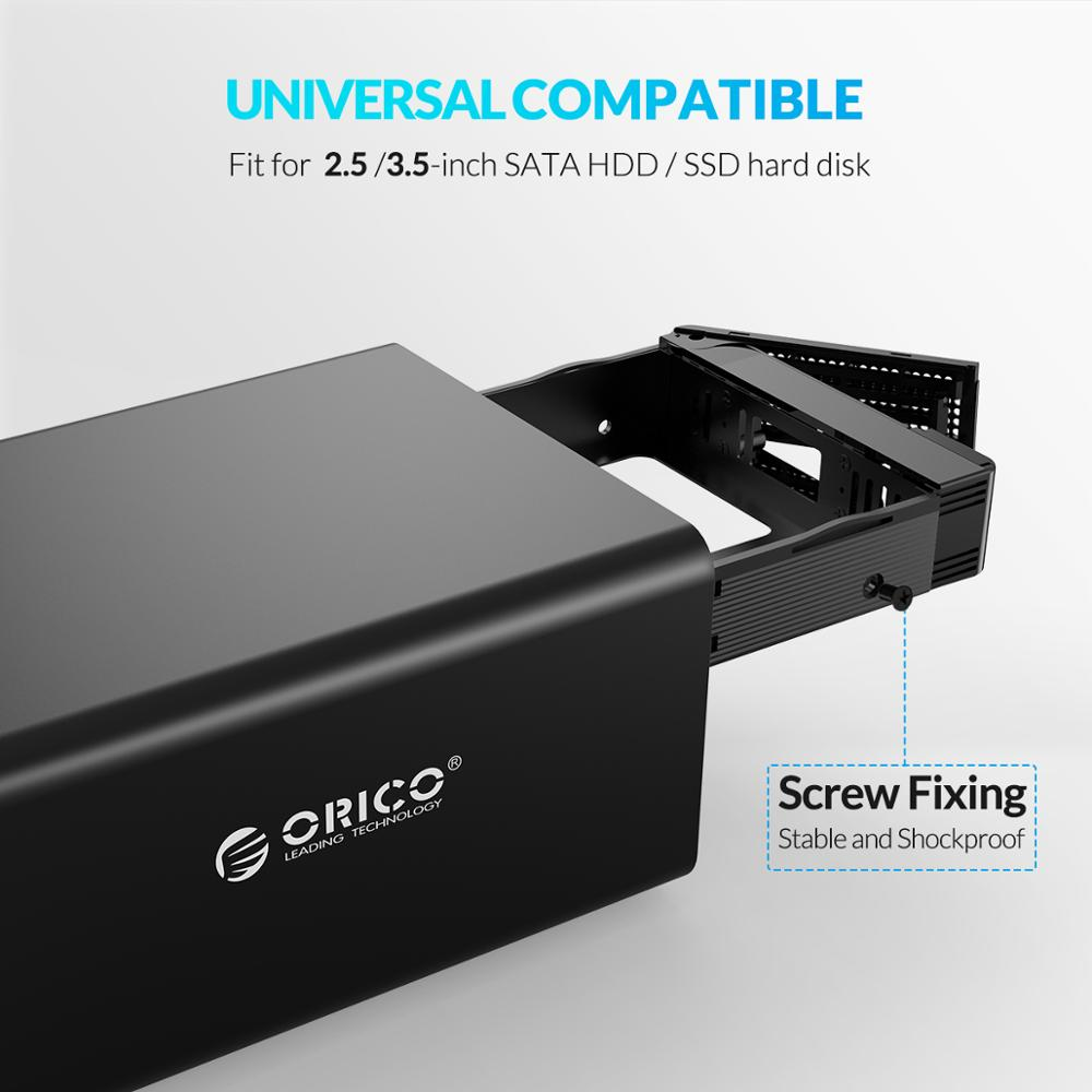 ORICO 35 Series 3.5 inch 2 Bay HDD Docking Station Support UASP 32TB With 48W Power Hard Drive Case For 2.5 3.5 Inch Hard Drive enlarge